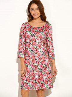 Vrac Floral Print Dress - Rouge S