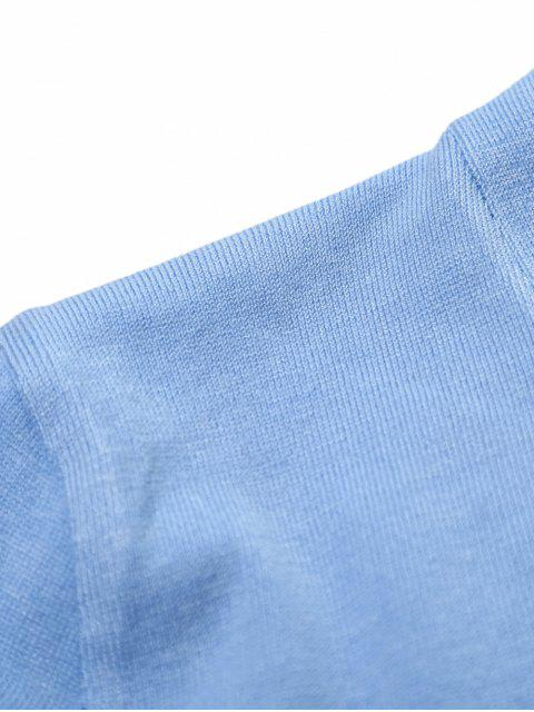 best Slimming V Neck Button Up Cardigan - WINE RED M Mobile