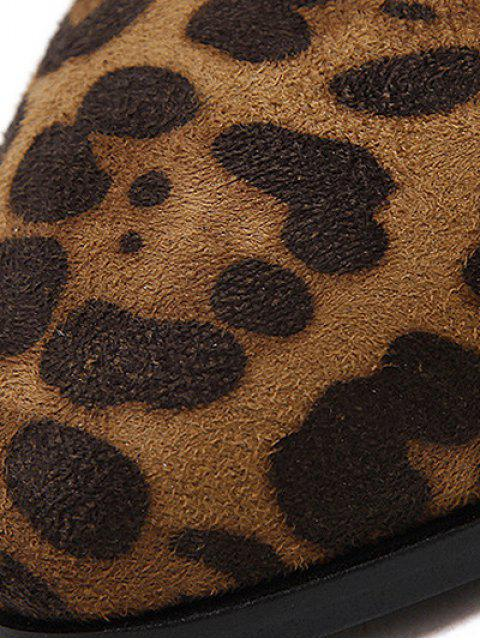 sale Leopard Print Splicing Stitching Ankle Boots - LEOPARD 38 Mobile