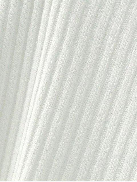 Pull en tricot côtelé à col V - Gris S Mobile