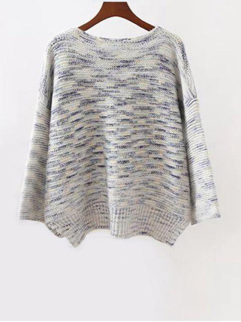 outfits Marled Oversized Sweater - GRAY ONE SIZE Mobile