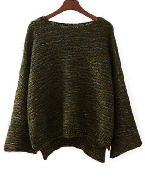shop Marled Oversized Sweater - GREEN ONE SIZE Mobile
