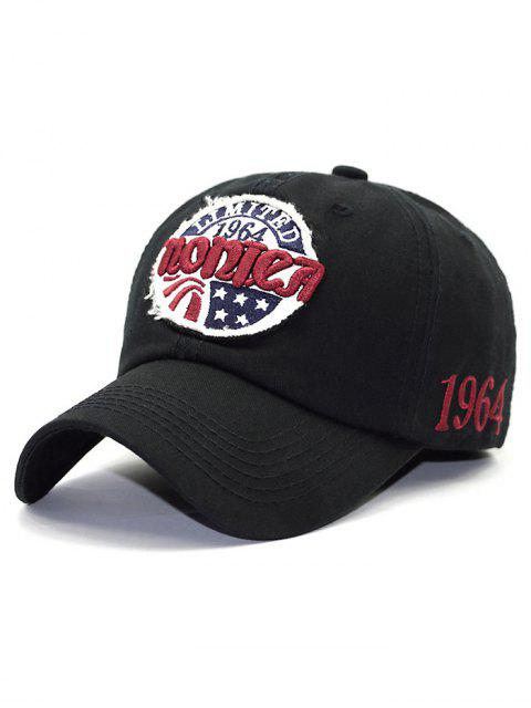 best Embroidery Patch Letter Star Baseball Hat - BLACK  Mobile