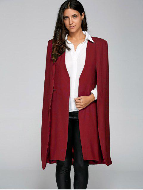 online Loose Cape Cloak Overcoat - RED L Mobile