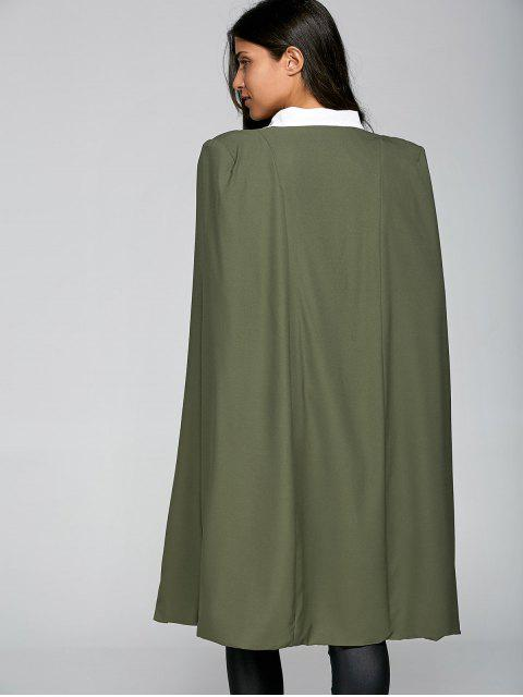 shop Loose Cape Cloak Overcoat - ARMY GREEN XL Mobile