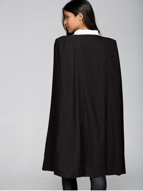 buy Loose Cape Cloak Overcoat - BLACK XS Mobile