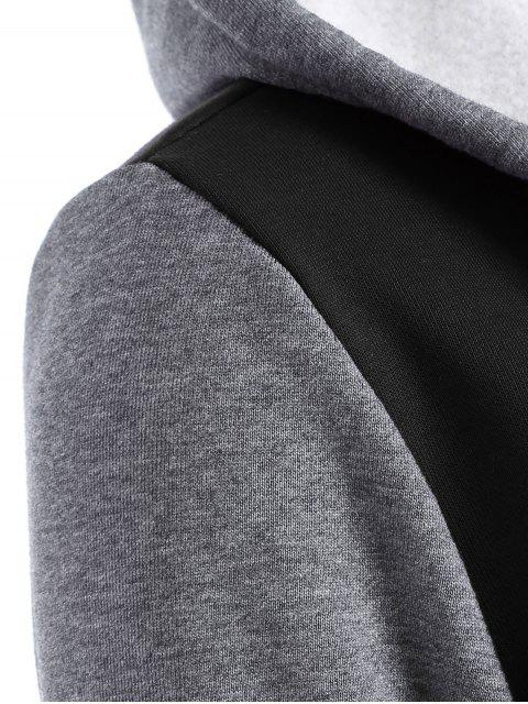affordable Varsity Baseball Fleece Hoodie Jacket - BLACK XL Mobile
