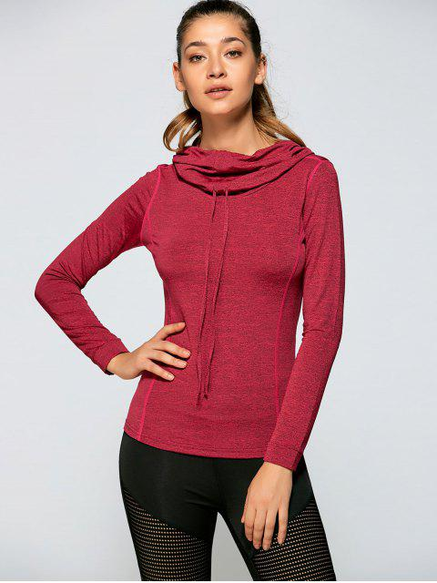new Sports Drawstring Hoodie - DEEP RED M Mobile