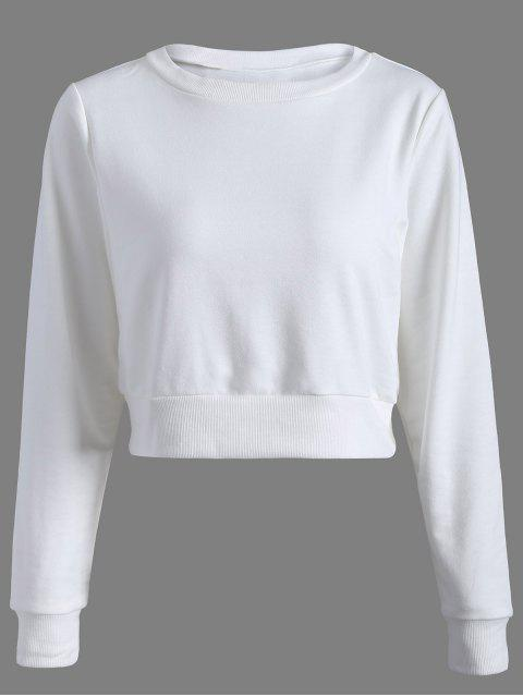Sweatshirt de sport casual court - Blanc 2XL Mobile