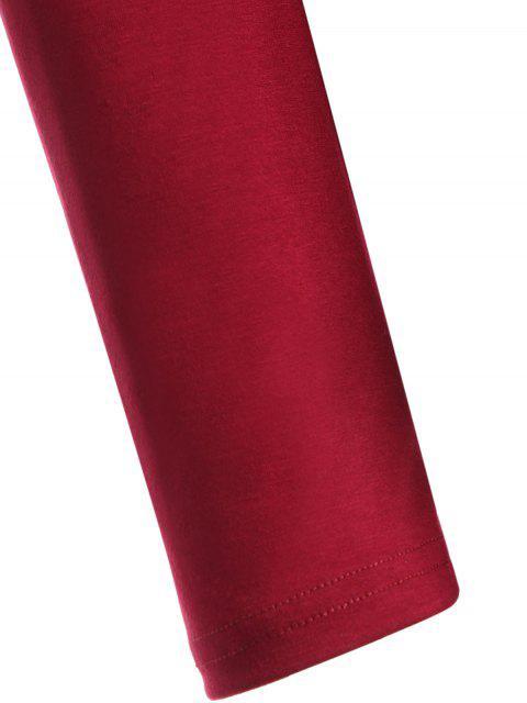 sale Loose Cold Shoulder T-Shirt - RED S Mobile