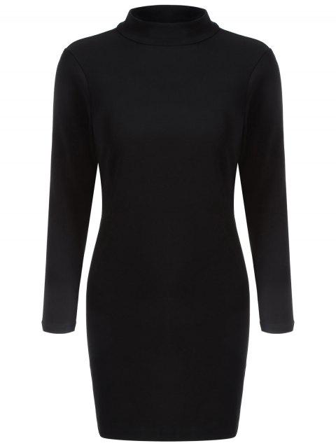 latest Back Cutout Bodycon Dress - BLACK 2XL Mobile