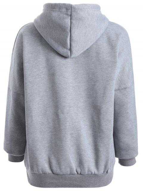 new Oioi Graphic Hoodie - GRAY ONE SIZE Mobile