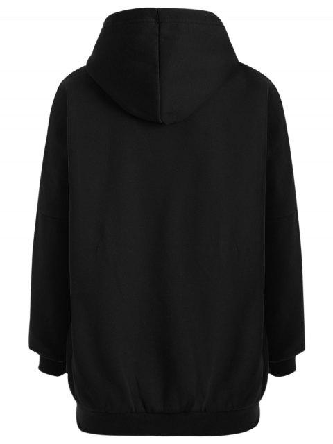 new Oioi Graphic Hoodie - BLACK ONE SIZE Mobile