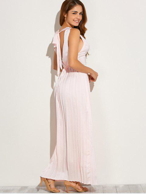 Maxi robe découpée - ROSE PÂLE L Mobile