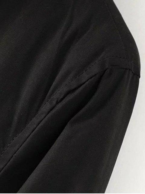 fancy Faux Fur Lined Parka Coat - BLACK XL Mobile