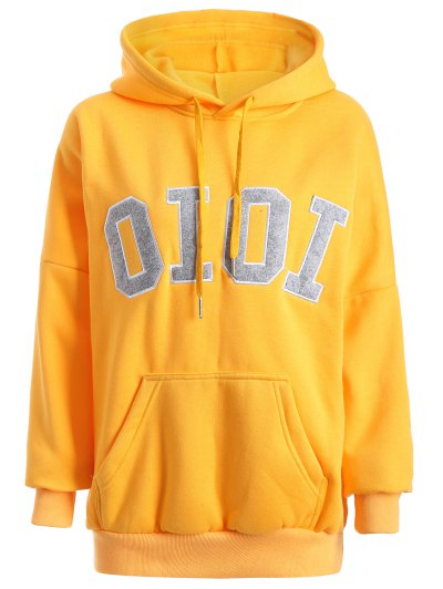 b9d9bad5f07 Oioi Graphic Hoodie - Yellow