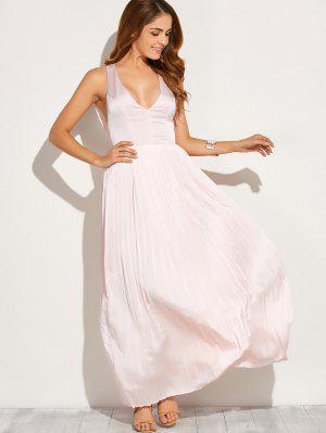 Cortar Hacia Fuera El Vestido Maxi - Rosa L
