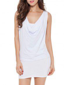 فستان ضيق رباط  - أبيض