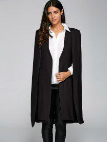 Loose Cape Cloak Overcoat - Black L