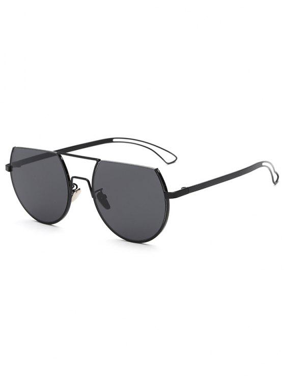 womens Hollow Out Leg Scrape Top Sunglasses - BLACK