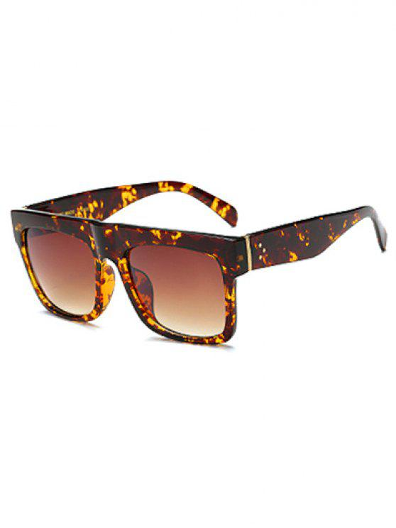 affordable Hawksbill Rectangle Sunglasses - TEA-COLORED