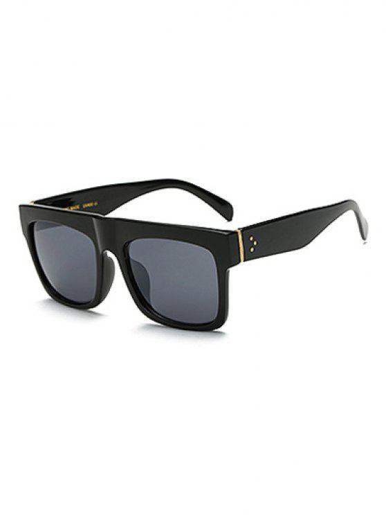 womens Anti UV Rectangle Sunglasses - BLACK