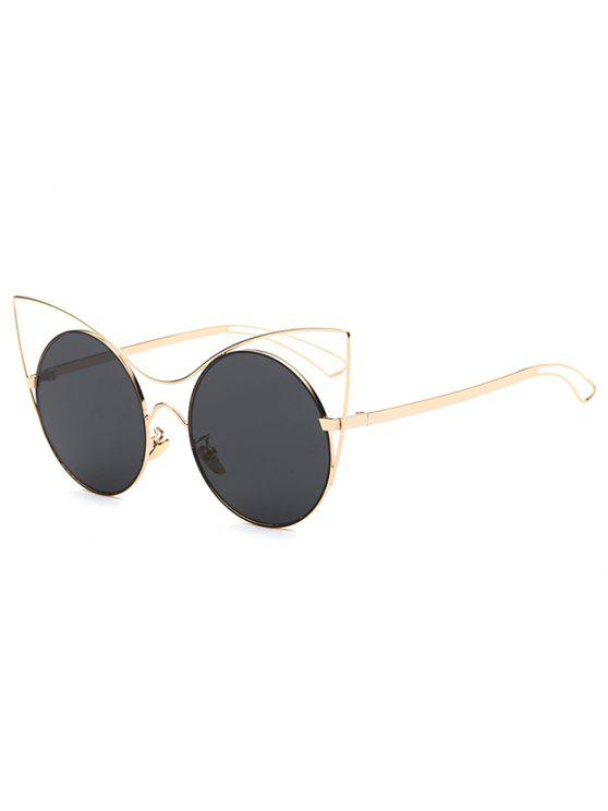 online Hollow Out Leg Cat Eye Sunglasses - GOLDEN