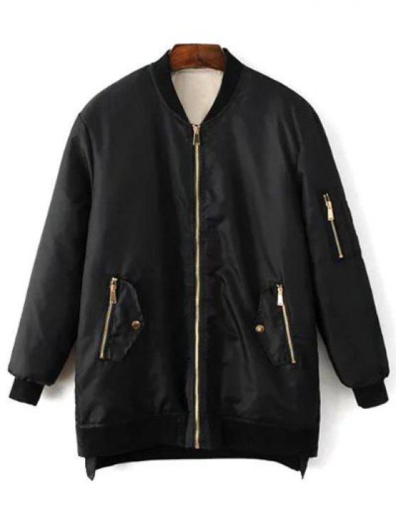 shop Quilted Zip Jacket - BLACK M