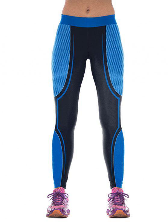 Pantalons Color Block Skinny Gym - Bleu M