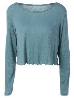 Baggy High-Low T-Shirt - Blue L