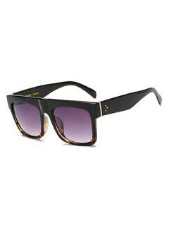 Hawksbill Frame Patch Rectangle Lunettes De Soleil - Pourpre
