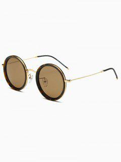 Slim Leg Hawksbill Round Sunglasses - Brown