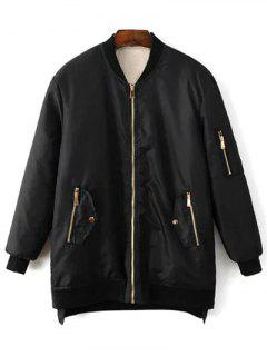 Quilted Zip Jacket - Black M