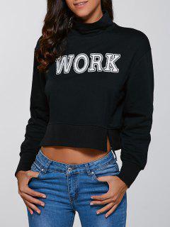 Col Haut Recadrée Sweatshirt - Noir L