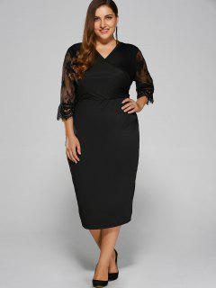 Cut Out Plus Size Dress - Black L