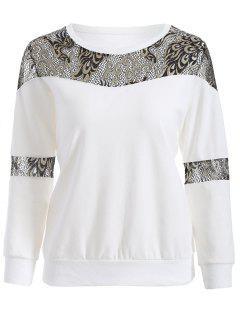 Panel De La Camiseta De Encaje - Blanco 2xl