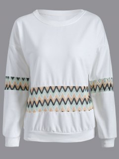 Panel De Crochet Sudadera - Blanco L