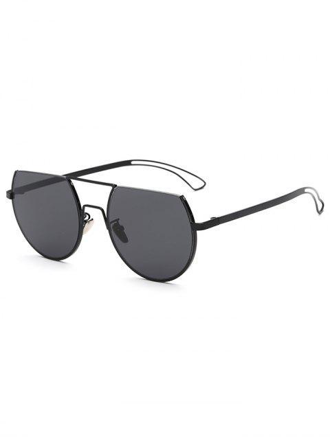 womens Hollow Out Leg Scrape Top Sunglasses - BLACK  Mobile