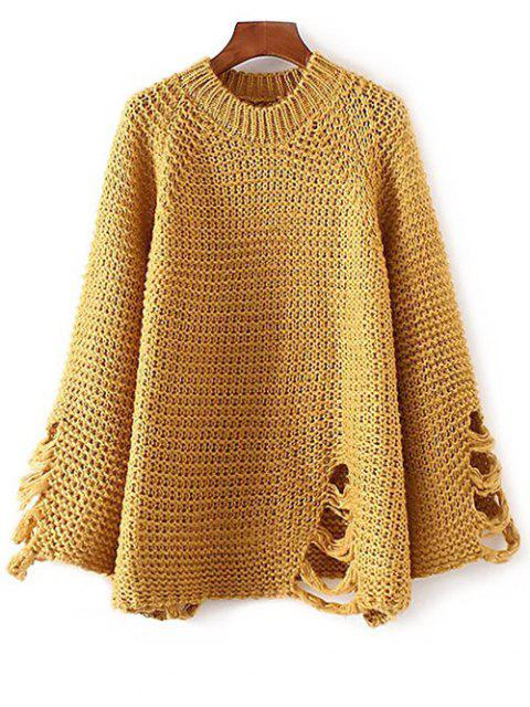 Ripped Chunky Knit Sweater - Curcumae TAILLE MOYENNE Mobile