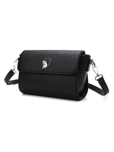 womens Magnetic Closure Textured Leather Metal Crossbody Bag -   Mobile