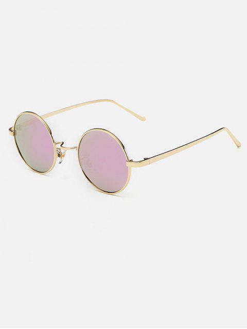 shops Streetwear Metal Round Mirror Sunglasses - PINK  Mobile