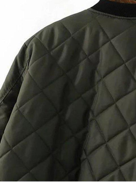 shop Quilted Zip Jacket - BLACK M Mobile