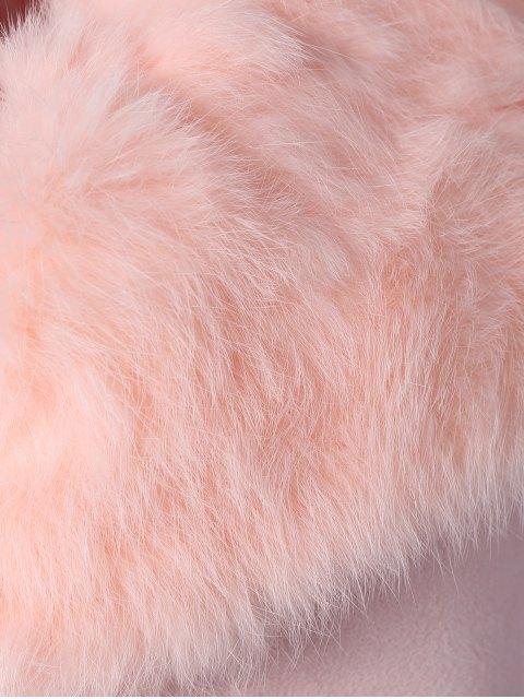 Manteau en polaire à fourrure en lapin - ROSE PÂLE TAILLE MOYENNE Mobile