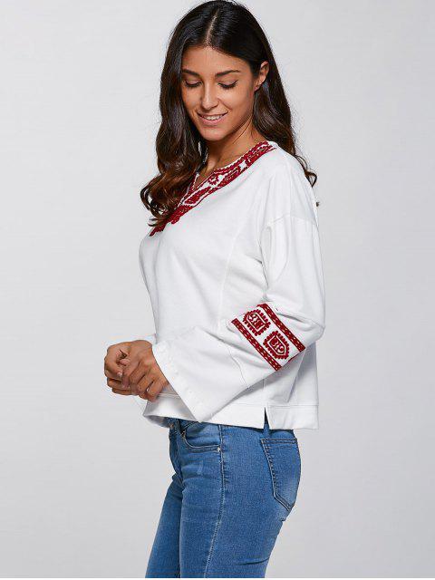 Ethnique Sweatshirt Imprimer - Blanc S Mobile
