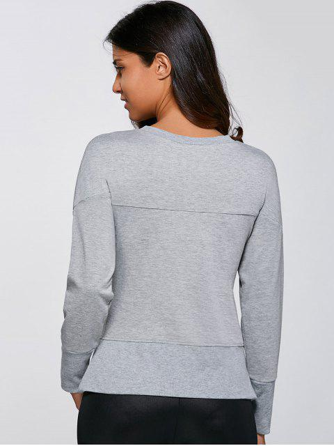 hot Embroidered Lucky Sweatshirt - GRAY M Mobile