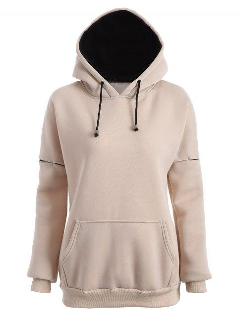 fancy Raglan Sleeve Pullover Hoodie - APRICOT S Mobile