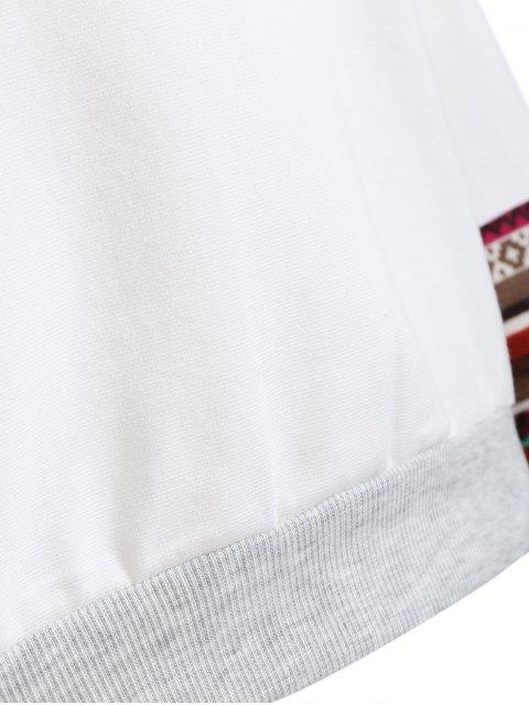 women Tribal Print Sleeve Sweatshirt - WHITE M Mobile