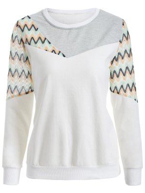 See-Through Panelled Sweatshirt - White M