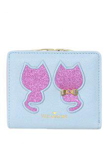 Buy Animal Pattern Sequins Bow Wallet - LIGHT BLUE
