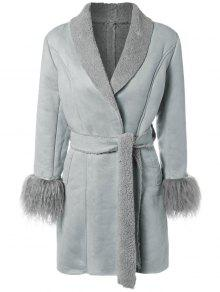 Faux Lamb Wool Coat LIGHT BLUE: Jackets & Coats ONE SIZE | ZAFUL